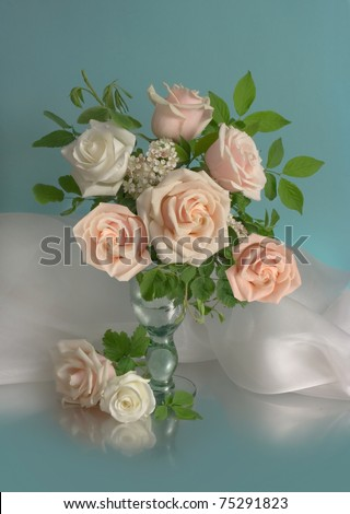 Rural bouquet with roses