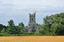 Rural church at stratford st mary suffolk