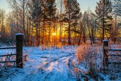 Rural dawn.