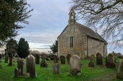 Rural English Church and Graveyard cemetery