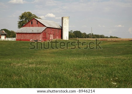 Rural farm scene near Liberty Indiana late fall