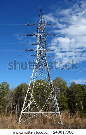 Rural high voltage electric transmission lines