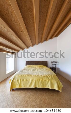 rural home interior, nice bedroom
