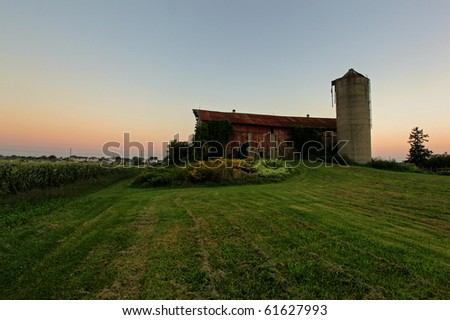 rural homestead in the farm country