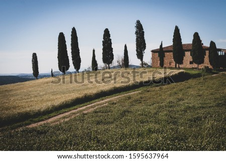 Rural house in the countryside of Norcia Tuscany.