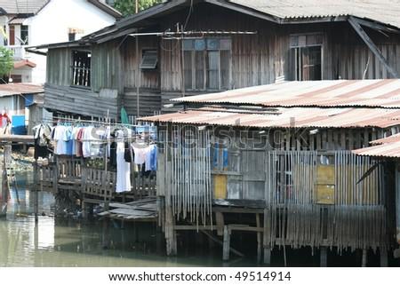 Rural houses, Thailand.