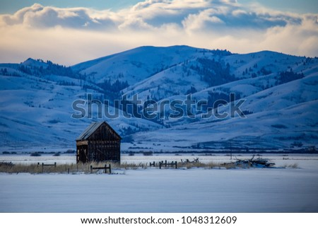 rural Idaho in the winter