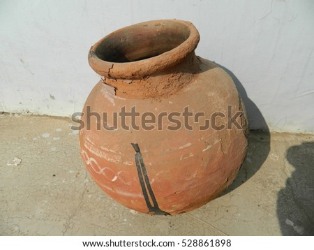 Rural Indian clay pot/Clay Pot
