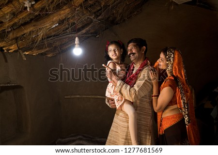 Rural Indian family delighted on electricity reaching their home