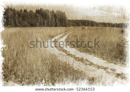 rural landscape with a road...
