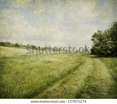 Rural landscape with added texture