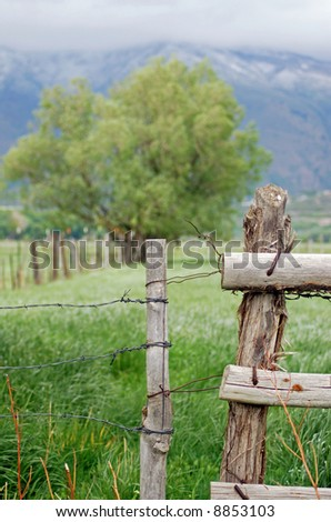 Rural Pasture Fence and Gate