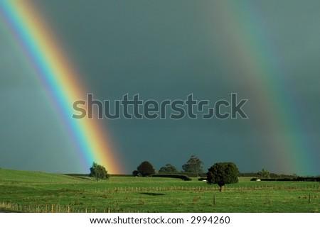 Rural Rainbow - stock photo