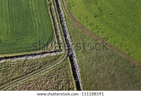 Rural road from above