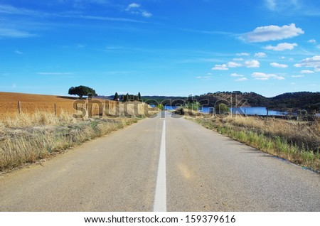 Rural road in Alentejo region, Portugal
