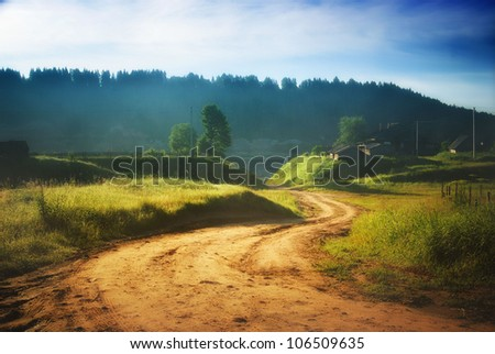 rural road in the summer