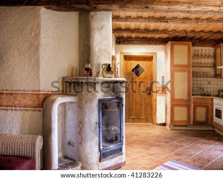 Rural Room with Chimney #41283226