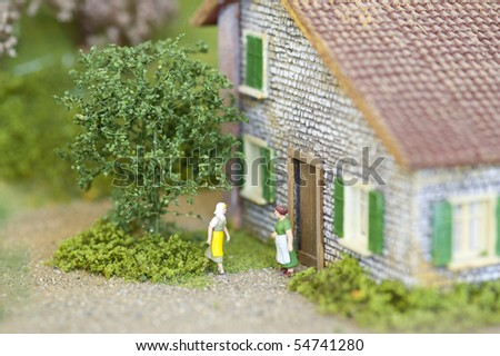 Rural scene made by Figurines.