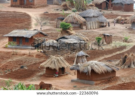 Rural village in malawi