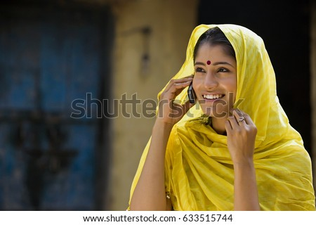 Rural woman talking on a mobile