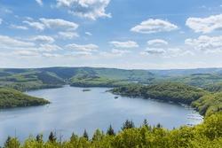 Rursee lake at the Eifel national park at summer, germany
