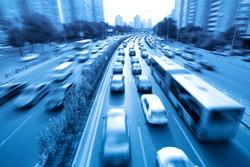 rush hour traffic in beijing,China