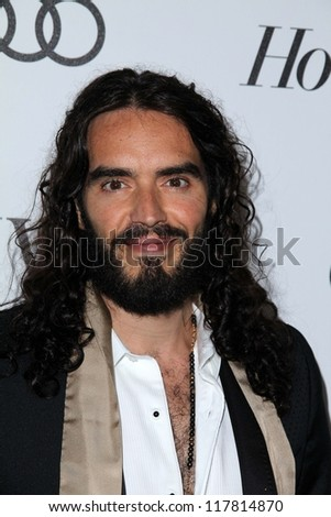 Russell Brand at Reel Stories Real Lives presented by The Motion Picture & Television Fund, Milk Studios, Los Angeles, CA 10-20-12