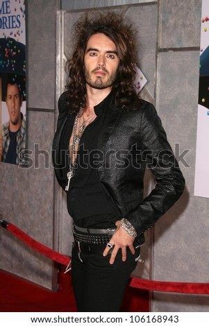 Russell Brand   at the Los Angeles Premiere of 'Bedtime Stories'. El Capitan Theatre, Hollywood, CA. 12-18-08