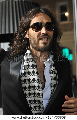 "Russell Brand at the world premiere of ""Gangster Squad"" at Grauman's Chinese Theatre, Hollywood. January 7, 2013  Los Angeles, CA Picture: Paul Smith"