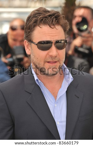 Russell Crowe  at the 63rd Festival de Cannes where his movie \