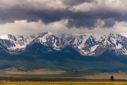 Russia, Altai mountains, Severo-Chui Range at summer day