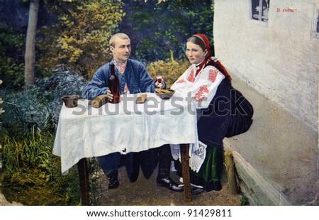 russia   circa 1907  postcard...