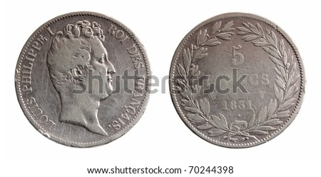 RUSSIA - CIRCA 1921: sides of a1921 one rubl coin from the United Kingdom, circa 1921.