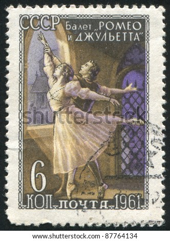 RUSSIA - CIRCA 1961: stamp printed by Russia, shows Ballet Romeo and Juliet, circa 1961