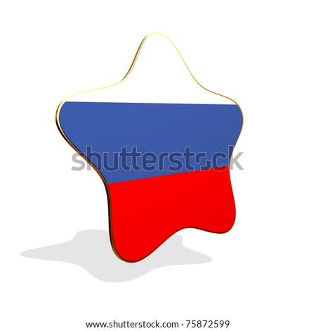 Russia flag STAR BANNER