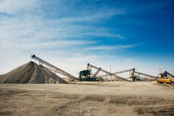 Russia, industrial stone production, crushed stone production, stone mining, crushed stone mining plant