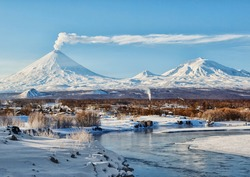 Russia,Kamchatka Peninsula. Village Klyuchi.