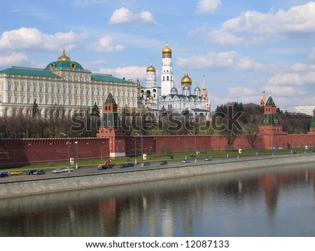 Russia. Kind to the Moscow Kremlin. - stock photo