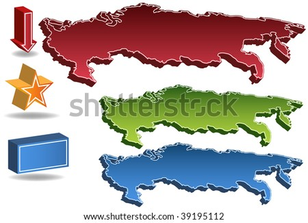 Russia map isolated on a white background.