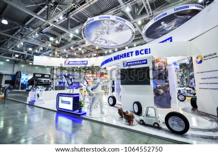 Russia, Moscow, Expocentre, 29 August - 9 September 2012: Michelin booth at 4th Moscow International Automobile Salon (MIAS 2012) #1064552750