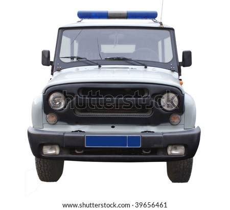 Russia passenger SUV. Isolated object on a white background