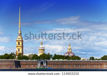 Russia. Petersburg. Peter and Paul Fortress spike.