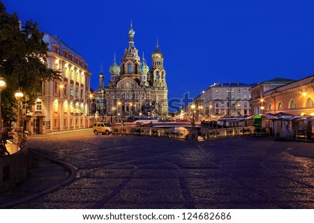 Russia, Saint-Petersburg, Church of the Savior on the Spilled Blood