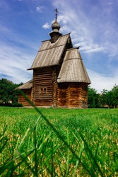 Russia, Suzdal. Museum of Wooden House and Peasant Life.