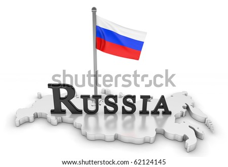 Russia Tribute/Digitally rendered scene with flag and typography