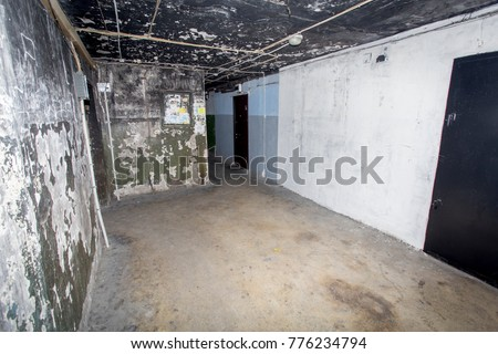 """Russia, Vladivostok, 12/16/2017. Terrible interior of an apartment building with cheap apartments. Typically, residents of such buildings are poor people. This type of building is called a """"gostinka"""" #776234794"""