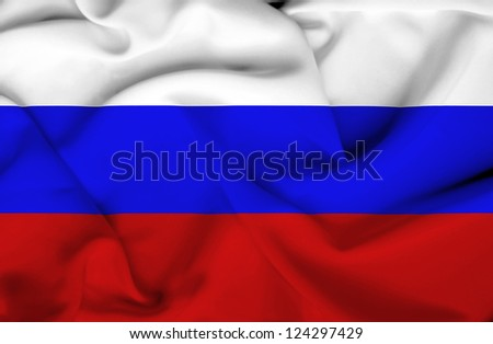 Russia waving flag