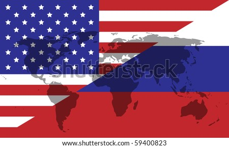 Russian American division of the world