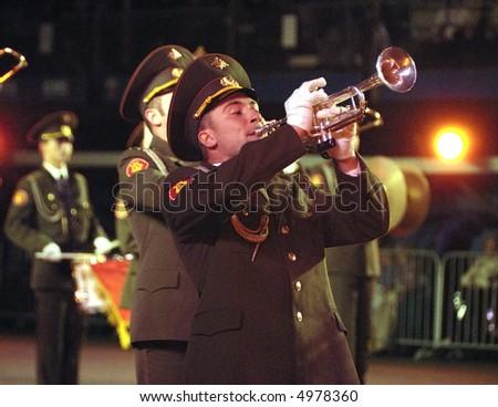 Russian army band at the Edinburgh Miiltary Tattoo 2007 at Edinburgh Castle