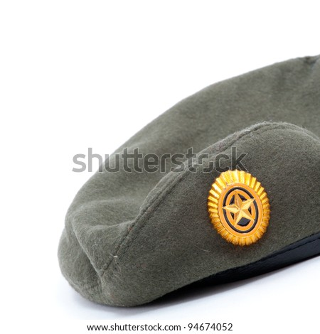 Russian army beret isolated